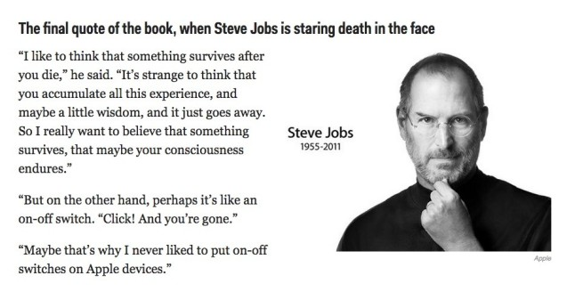 steve's final quote